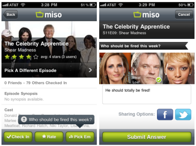 Miso Iphone App Question